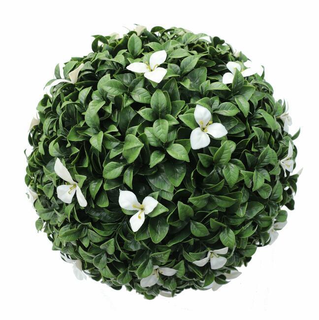 Boule artificielle Gradenia blanche 45 cm