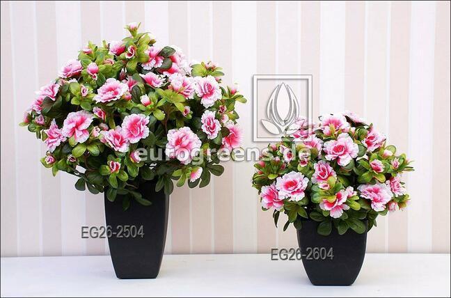 Bouquet artificiel Azalée belge crème-rose 40 cm