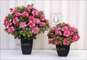 Bouquet artificiel Azalée belge rose 40 cm