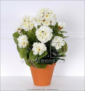Bouquet artificiel Géranium blanc 40 cm