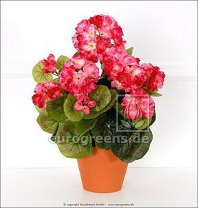 Bouquet artificiel Géranium rose clair 40 cm