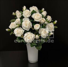 Bouquet artificiel Rose crème 50 cm