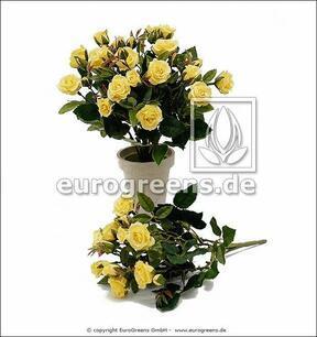 Bouquet artificiel Rose jaune 25 cm