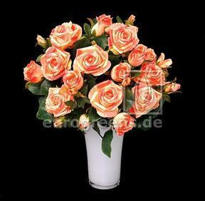 Bouquet artificiel Rose rose-abricot 50 cm