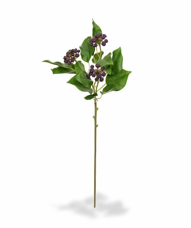 Branche artificielle Houx houx moletée bleu 60 cm