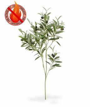Branche artificielle Olivier aux olives 90 cm