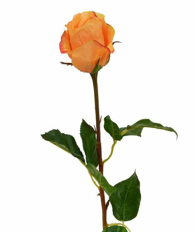 Branche artificielle Rose orange 52 cm