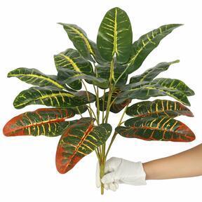 Croton artificiel chiné 50 cm