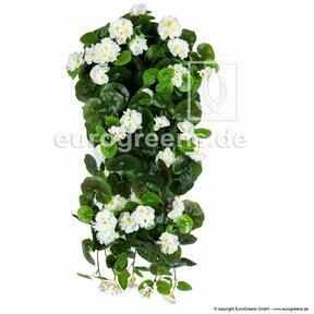 Guirlande artificielle Géranium blanc 70 cm