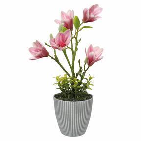 Magnolia artificiel en pot de fleurs 21 cm