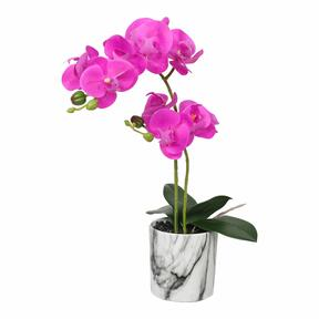 Orchidée artificielle cyclamen 49 cm