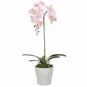 Orchidée artificielle rose 53 cm