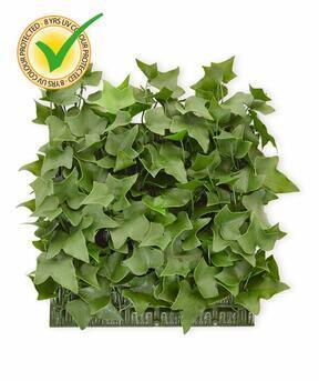 Panneau de feuilles artificielles Lierre - 25x25cm