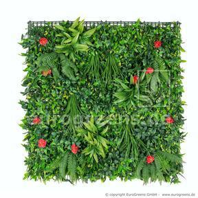 Panneau de fleurs artificielles - 100x100cm
