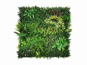 Panneau de fleurs artificielles Mix - 100x100 cm