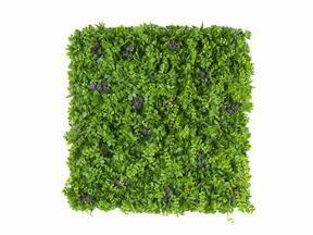 Panneau de fleurs artificielles Pennywort - 50x50 cm