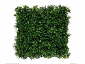 Panneau feuillu artificiel vert foncé Fougère - 50x50 cm