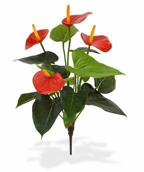 Plante artificielle Anthurium rouge 40 cm