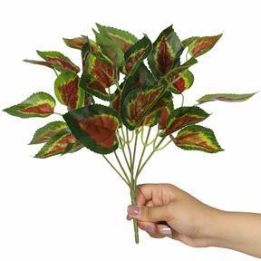 Plante artificielle Basilic rouge 25 cm