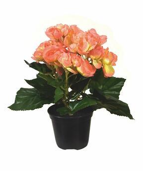 Plante artificielle Bégonia orange 20 cm