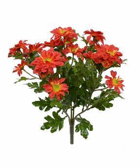 Plante artificielle Chrysanthème orange 35 cm