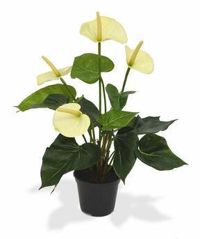 Plante artificielle d'anthurium blanc 40 cm