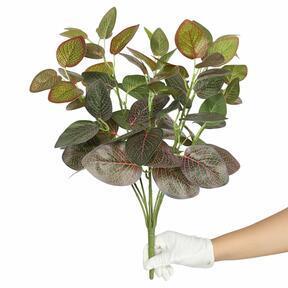 Plante artificielle Fitonia rouge 45 cm