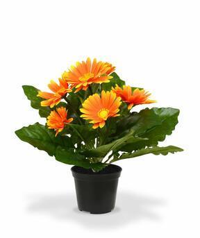 Plante artificielle Gerbera orange 30 cm