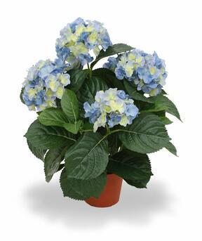 Plante artificielle Hortensia bleu 45 cm