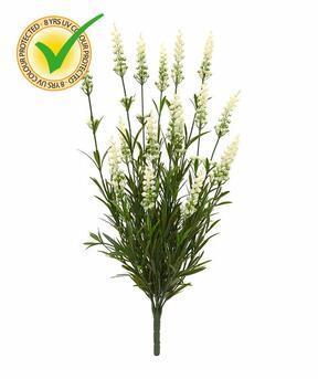 Plante artificielle Lavande blanche 50 cm
