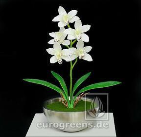Plante artificielle Orchidea Cymbidium crème 50 cm