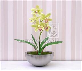Plante artificielle Orchidea Cymbidium vert clair 50 cm