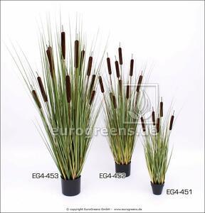 Plante artificielle Quenouilles en pot 90 cm