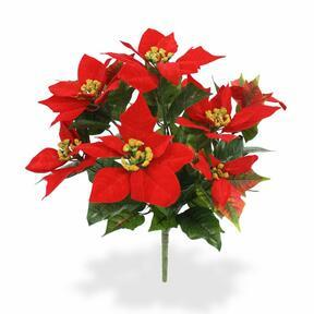 Plante artificielle Rose de Noël rouge 40 cm
