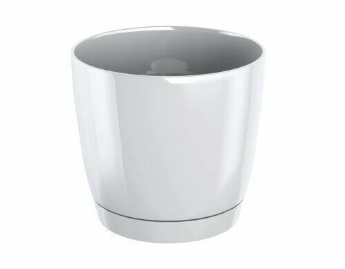 Pot de fleurs COUBI ROUND P avec un bol blanc 21cm