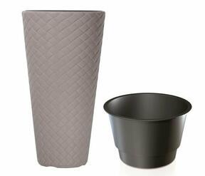 Pot de fleurs MATUBA SLIM + dépôt moka 30cm
