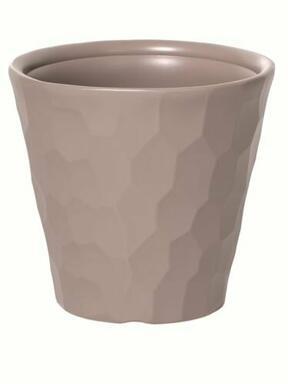 Pot de fleurs ROCKA moka 39,1 cm