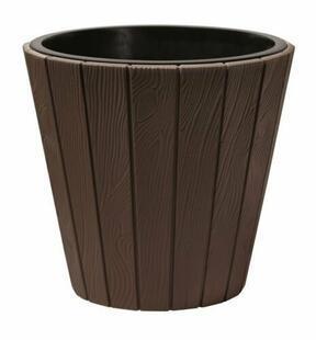 Pot de fleurs WOODE + dépôt marron 48,8 cm