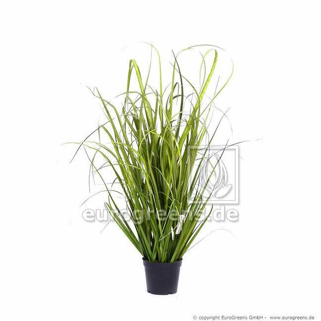 Touffe d'herbe artificielle Roseau commun dans un pot de fleurs 60 cm