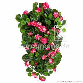 Vrille artificielle Géranium rouge 70 cm