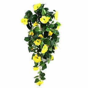 Vrille artificielle Pétunia jaune 80 cm