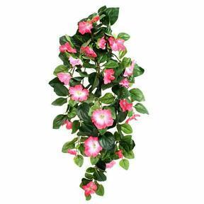 Vrille artificielle Pétunia rose 80 cm