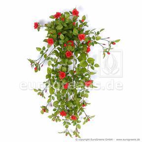 Vrille artificielle Rose rouge 85 cm